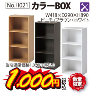 カラーBOX(数量限定)